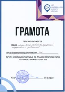 Грамоты с ПР-фестиваля в Санкт-Петербурге 2019 (1)